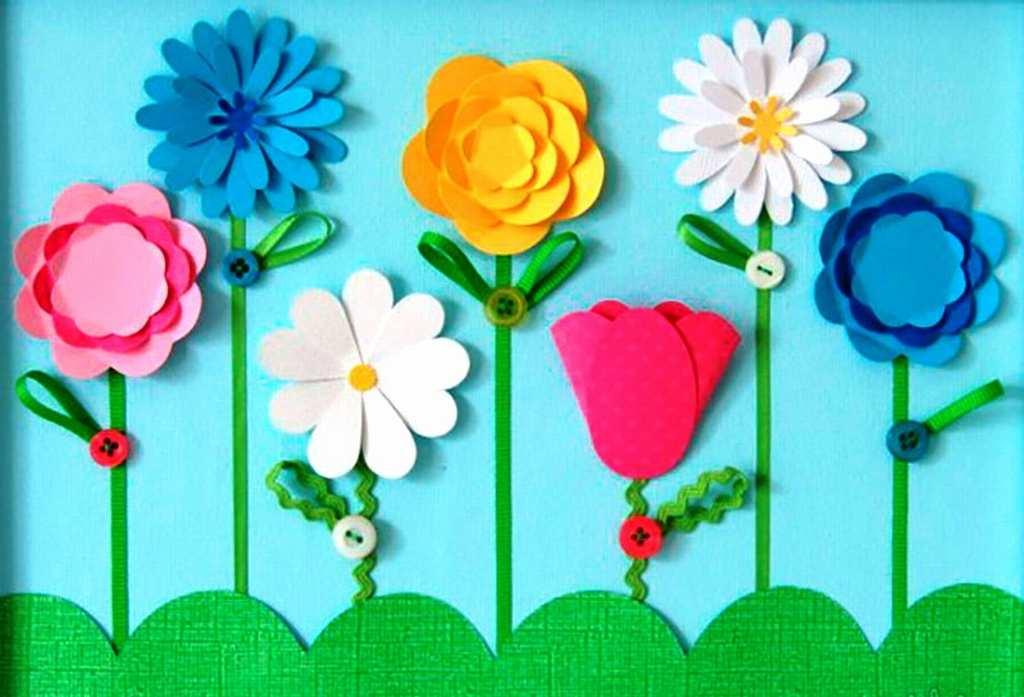 Аппликации своими руками цветы